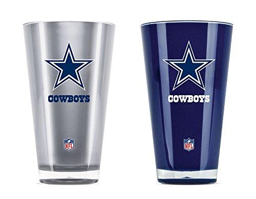 Duck House NFL Dallas Cowboys Trinkbecher, isoliert, Acryl, 570 ml, 2 Stück