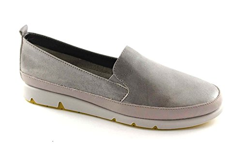 GRUNLAND MILI SC1375 perla grigio scarpe donna mocassini slip on 40