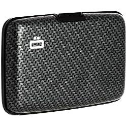 Ögon Smart Wallets - Porte-Cartes Stockholm - RFID Protection : protège Vos Cartes Contre la fraude - Capacité jusqu'à 10 Cartes + reçus + Billets - Aluminium anodisé (Carbone)