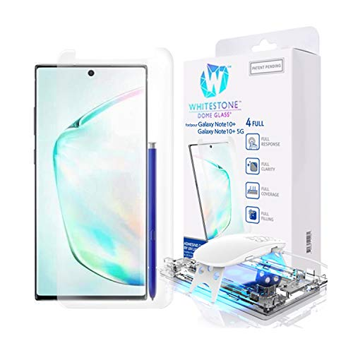 Galaxy Note 10 Plus Screen Protector, [Dome Glass] Full 3D Curved Edge Tempered Glass Shield [Liquid Dispersion Tech] Easy Install Kit for Samsung Galaxy Note 10+ and Note 10 + 5G Protector Kit