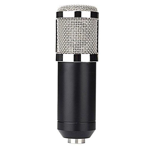 Gosear Professional Cablato Studio Broadcasting Registrazione Condensatore KTV Microfono Mic con Schiuma Cap Metal Shock (Condensatore Strumento Mic)