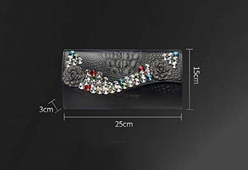 Diamanthandtasche, Diamantbohrentasche, Art und Weise große Kapazität Beutel, Abendbeutel, lederne Handbeutel ( Farbe : Weiß ) Gold