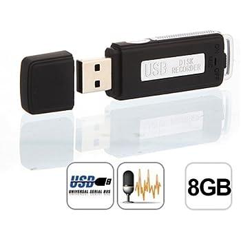 2en1 Digitale Micro Clé USB Enregistreur Dictaphone Audio Voice Recorder 8GB 8G0