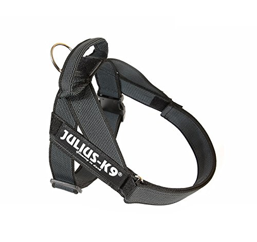 Pettorina Julius-K9 IDC New Belt Harness Black Tg.0-3 - Resistente pettorina nera, regolabile in nylon, per cani (1)