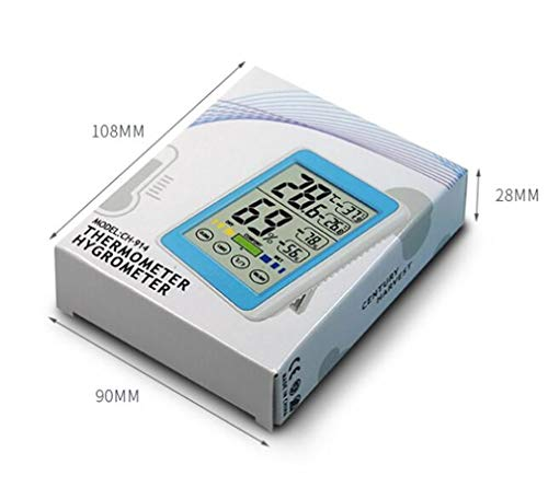 Higrometro Digital Termometro Higrometro Digital Relojes Jardin Hogar Electrónica Para El Hogar, Alta...