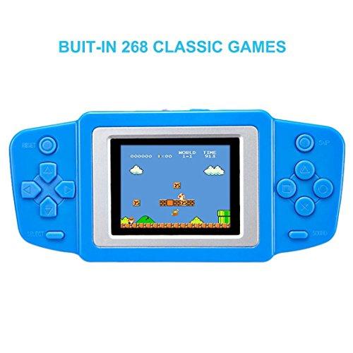 Balai Portable Handheld-Spielkonsole Eingebaute 268 Classic Games Wiederaufladbare Game Player