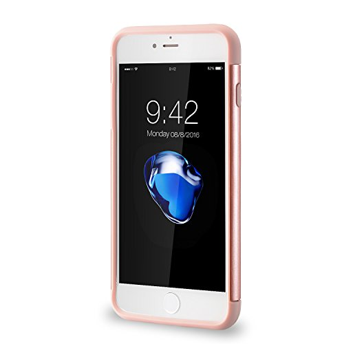 iPhone 8 Plus Hülle,iPhone 7 Plus Schutzhülle, 2 in1 Hülle PC+ Silikon Hybrid hoch Anprall Schutzhülle Fest Hülle Abdeckung für iPhone 7 plus(2016)/iPhone 8 plus(2017) 5.5' (Mint Green) Rose Gold