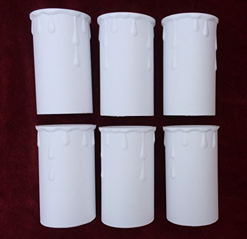 6-white-candle-drips-tubes-sleeves-candledrips-plastic-70mm-x-37mm