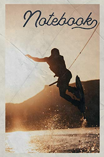 Notebook: Wakeboard Bindings Elegant Composition Book Journal Diary for Men, Women, Teen & Kids Vintage Retro Design for Notes on Wakeboarding Near Me