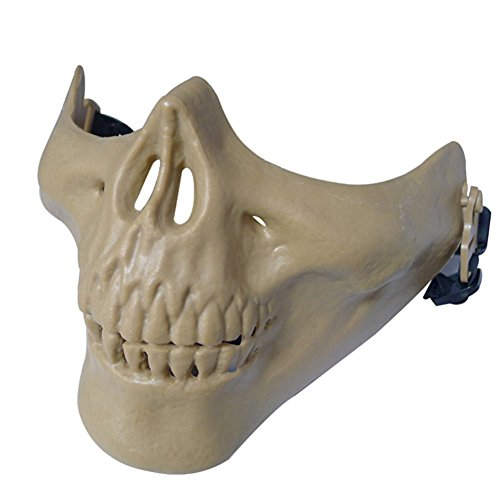 012765Tastschalter Jagd Ski Totenkopf Paintball Planspiel Skelett Maske Schützen Gear, Outdoor CS Kreativ DIY M03Schutz Face Maske Half Face Schädel, 6Farben (Halloween 15 Kreative Kostüme)