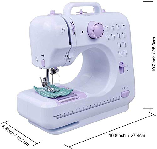 Luhi Mini Multifunction Household Plastic Sewing Machine with Forward and...