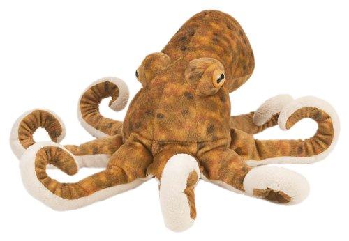 Wild Republic 10939CK Octopus Plush Toy, marrone, 30cm