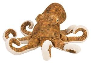 Wild Republic-10939 Peluche Pulpo Cuddlekins, Color marrón, 30 cm (10939