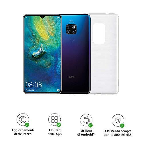 """Foto Huawei Mate 20 (Twilight) più Cover Originale, Telefono con 128 GB, Display 6.53"""" Full HD+, Processore Octa Core dinamico con Intelligenza Artificiale [Versione Italiana]"""