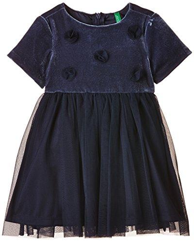 united-colors-of-benetton-4py65v17p-velvet-tulle-dress-vestito-bambina-blu-navy-1-to-2-anos