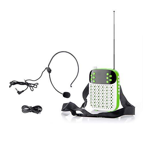 Wan Ning Microfono Q37 Microfoni Ricaricabili Portatili con Microfono e Auricolari cablati Mini Auricolari appesi Vita appesi per Insegnanti e Guide