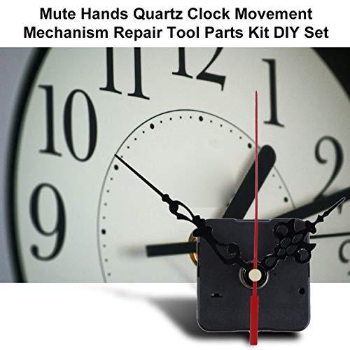 Meccanismo di movimento dellorologio da parete al quarzo professionale e pratico Kit di parti di strumenti di riparazione fai-da-te con le mani blu nero e blu