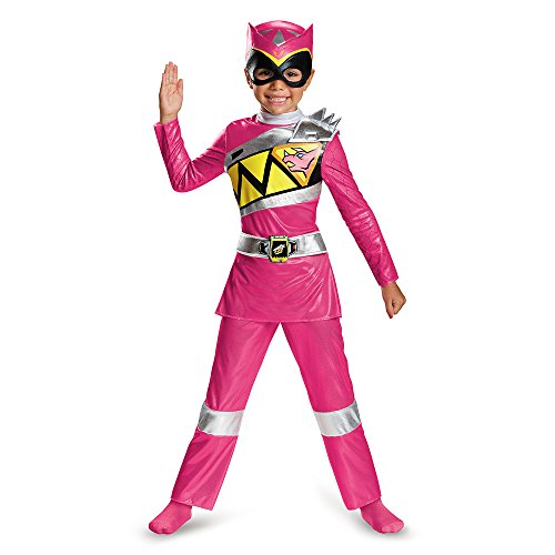 Pink Deluxe Kostüm Ranger Power - Power Rangers Dino Charge Pink Toddler Deluxe Costume 4-6