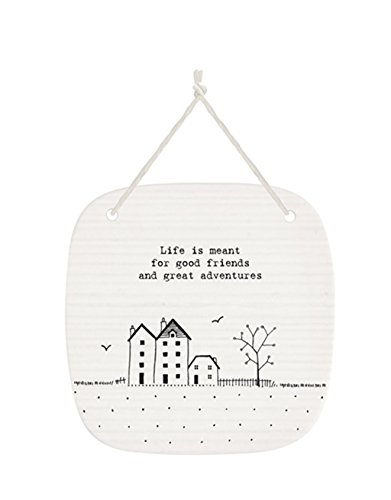 life-is-meant-for-good-friends-and-great-adventures-square-porcelain-hanging-picture-plaque-by-east-