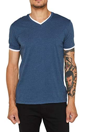ESPRIT Herren 089Ee2K010 T-Shirt, Blau (Navy 400), Medium (Herstellergröße: M)