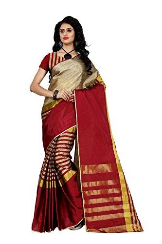 Trendz Cotton Silk Saree (Tz_Arun_Red_Red)