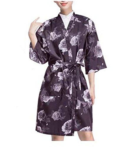Salon Client Kleid Upscale Robes Schönheitssalon Kittel für Kunden, weiße Rose -