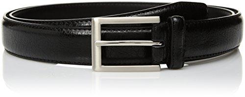 Florsheim Men's Crackle Grain Leather Belt 30MM, Black, 34