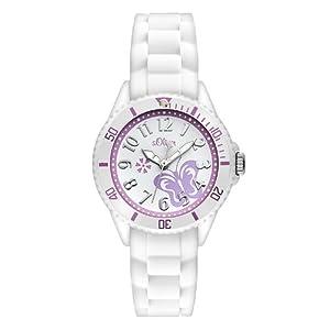 S.Oliver Mädchen Analog Quarz Armbanduhr SO-2755-PQ
