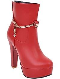 Calzature & Accessori rossi con stringhe per donna Rismart f9hdwR