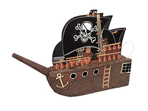 Unique Party 66269 - Pignatta a Forma di Nave Pirata