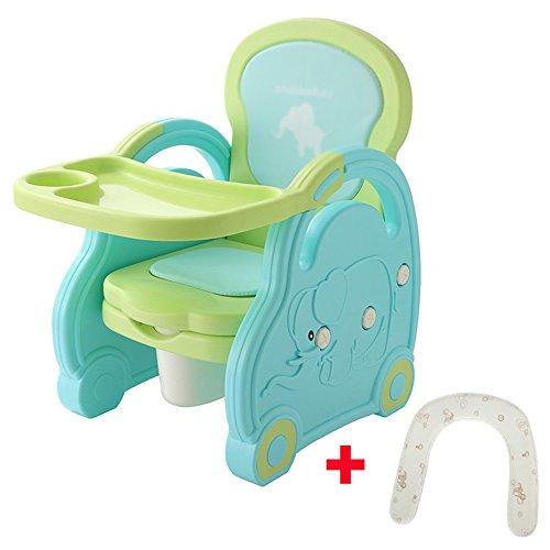 Brisk- Multifonction Chaise À Manger pour Enfants Petite Chaise Tabouret Repas De Bébé Tables Et Chaises Siège Arrière Toilettes Toilette (Couleur : Blue+Green)
