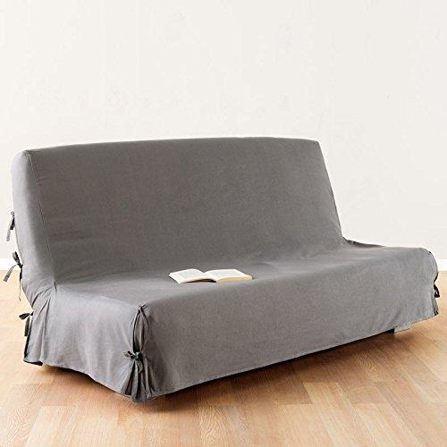 Funda de sofá cama clic-clac - 100% algodón - Color GRIS Claro
