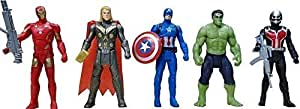99Shoppy Set of 5 Avenger Action Figures in Multicolor - Movable Legs and Arms