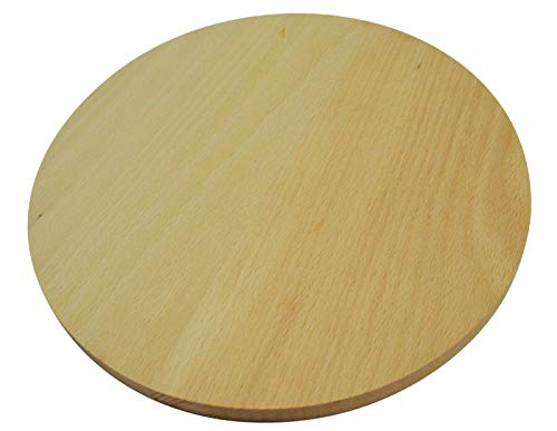 Wooden World Tabla Cortar Redonda Madera Doble Cara