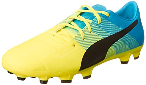 Puma - Evopower 3.3 Ag Jr, Scarpe da calcio Unisex – Bambini Giallo (Gelb (safety yellow-black-atomic blue 01))