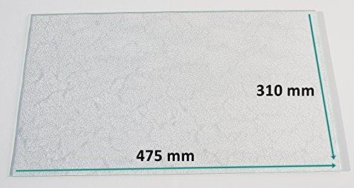 Kühlschrank Einlegeboden / Glasplatte / Gemüsefach – Strukturglas 4 mm dick – 475 mm x 310 mm - Direkt vom Glasereifachbetrieb!!!