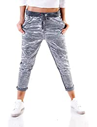bd3eb4353f97 Wholefashion Italy Chino Hose Pant Boyfriend Jogging Style Skinny Glossy