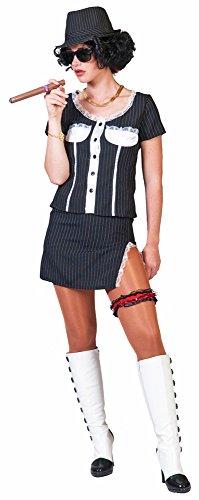 Mafia Gangster Braut Bonny Kostüm für Damen Gr. 44 (Kostüm Gangster Damen)