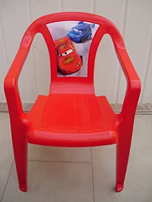 Progarden 46220 Kinder Stapelsessel Sedia Baby 'Cars', Vollkunststoff, 35 x 36,5 x 51,5 cm, rot