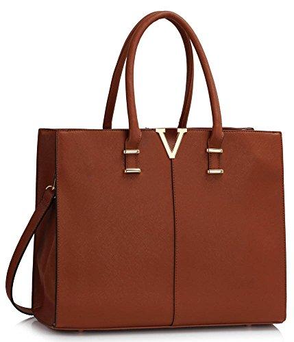 LeahWard Damen X Large Mode lang Promi Taschen Frauen Qualitäts heiße Verkaufs Trendige Handtaschen CWS00319B CWS00319C CWS00319 (319C Brown) (Chloe Handtasche Weiß)