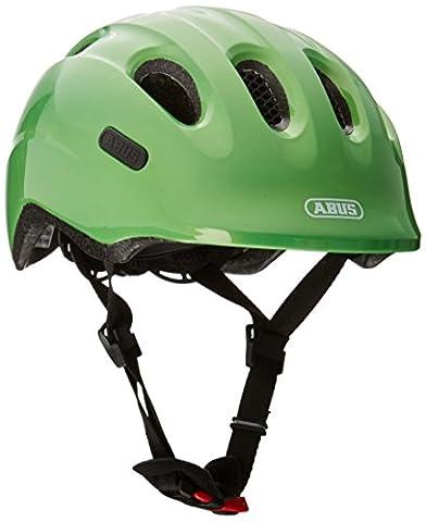Abus Kinder Smiley 2.0 Fahrradhelm, Sparkling Green, 50-55 cm