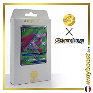 Floramantis-GX (Lurantis-GX) 138/149 Full Art - #myboost X Soleil & Lune 1 - Box de 10 Cartas Pokémon Francés