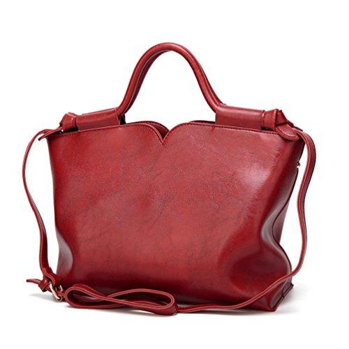 YiLianDa Damen Handtaschen Schultertaschen Umhängetaschen PU Leder Henkeltaschen Tote Damen Taschen für Frauen als Bild(1)
