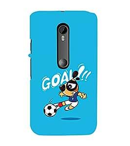 Fuson Designer Back Case Cover for Motorola Moto G3 :: Motorola Moto G (3rd Gen) :: Motorola Moto G3 Dual SIM (football boy playing kick goal football image)