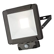 Knightsbridge 230V IP65 50W LED Floodlight with PIR Sensor 4000K Black