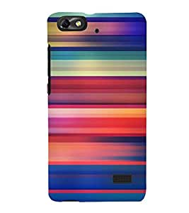 printtech Colored Lines Streaks Back Case Cover for Huawei G Play Mini