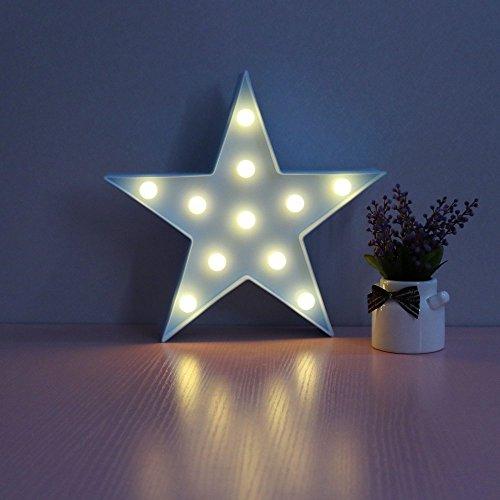 Rainbow Unicorn Mond LED Weihnachten Schlafzimmer Dekorationen Lampe Mauer Beleuchtung Star Mond Wolke Regenbogen Wolken Geformt LED Licht Beleuchtung zum Kinder Jugendliche Erwachsene (Blau Sterne)