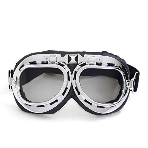 Lyanther Motorrad Schutzbrille Dirt Bike ATV Motocross Brille Anti-UV Einstellbare Reiten Offroad Sportbrillen Pilot Aviator Brille Roller Harley Brillen für Männer Frauen Kinder Jugend Erwachsene