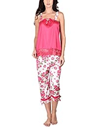 Go Glam Women's Nightsuit Set (Pink)