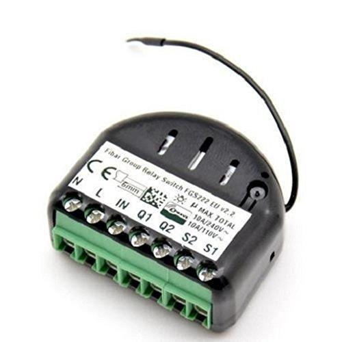 415j8DVUAmL [Bon Plan Fibaro] Fibaro FGS-222 EU Interrupteur de relais 2 x 1,5 KW 868,4 MHz